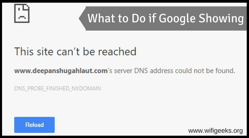 What to do if google showing server DNS address could not be found! (1) (1)