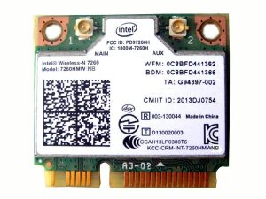 Intel 7260.HMWG.R Wireless-AC 7260 PCI Express Half Mini Card
