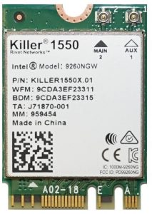Killer Wireless-AC 1550 Laptop Module