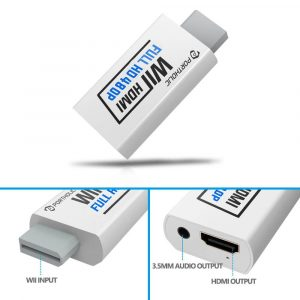 Portholic Wii to HDMI Converter 1080p for Full HD Device